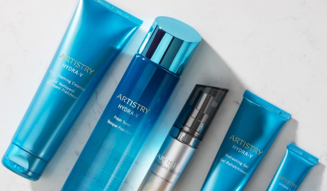 A collection of Artistry Hydra-V products.