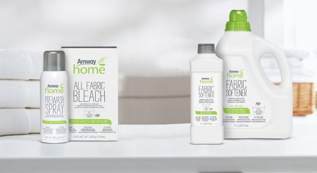 A selection of Amway Home laundry care products