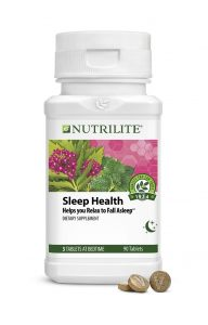A container of Nutrilite Sleep Health